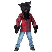 Disfraz Hombre Lobo Niño Halloween Lobo Feroz Negro