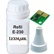 Kit Refil Toner E Chip Lexmark E-230 232 234 330 332 340