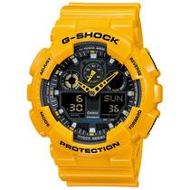 Relogio Casio G-shock Ga-100a-9adr Amarelo Nf-e