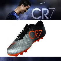 Chuteiras De Campo Nike Tenis Mercurial Cr7 Promoção Novo