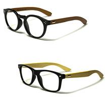 Gafas Madera Wood Round Monturas Sol Lentes Formulados