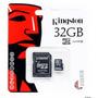 Memoria Micro Sd Hc 32gb Clase 4 Kingston Full Hd Adaptador