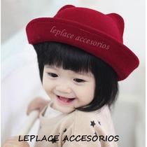 Sombrero Orejas De Gato Gorro Fieltro Animal Corea Bebe Nena