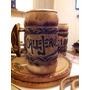 Chops De Cerveza Artesanal 500cc Tallado (madera Y Aluminio)