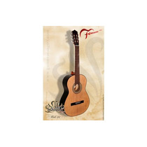 Guitarra Criolla Fonseca - De Estudio Mod. 25 Negra Natural