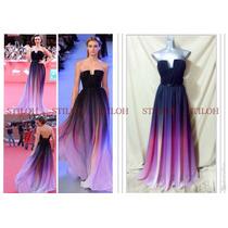Vestido Alta Costura Diseñador Largo Fiesta Noche Gala Nuevo