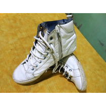 Zapatillas Joven Botitas C/cierre Narrow Color Blanca Nro 40