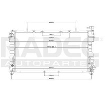 Radiador Chrysler Voyager 2001-2002-2003 L4 2.4l Automatico