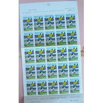 Pelé-folha Inteira Nova-25 Selos, N.658- 1000º Gol-1969