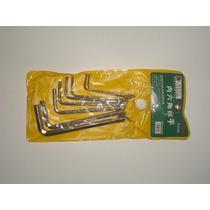 Conjunto Jogo De Chaves Halen 1,5 2 2,5 3 3,5 4 5 6mm