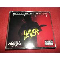 Slayer Decade Of Aggression Live Cd Doble Usa Ed 1991 Mdisk