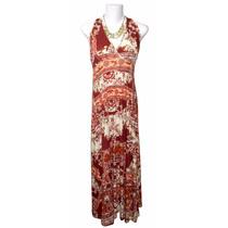 Vestido Feminino Longo Estampado Dudalinda Flor