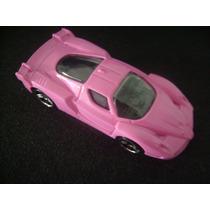 Hot Whells Ferrari Fxx. Custom Fox Rosa .1.64.tamanho 7cm