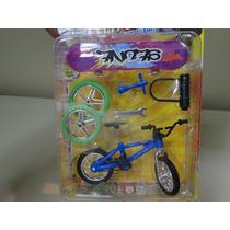 Mini Bicicleta Dedo+mini Skate De Dedo+ Acessorios Azul