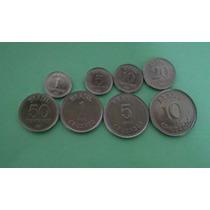 Moedas 1/5/10/20/50/centavos E1/5/10cruzados De 1987