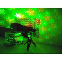 Projetor Laser Holografico Canhão 3d Com Microfone + Tripe!
