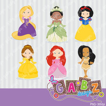 Kit Imprimible Princesas Disney 2 Imagenes Clipart