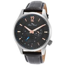 Relógio Lucien Piccard Burano Couro Genuíno E Mostr Preto