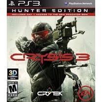 Jogo Lacrado Ação Primeira Pessoa Crysis 3 Playstation Ps3