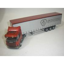 ( L - 130 ) Caminhão ( Escala 1:50 ) Scânia R- 380 + Carreta