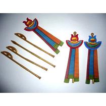 Playmobil - Set Egito : 4 Cajados E 3 Estandartes Do Faraó