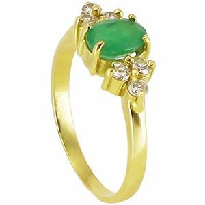 138d21040d3ac Anel Ouro Amarelo 18 Quilates Mais Esmeralda E Diamantes. - R  1.465 ...
