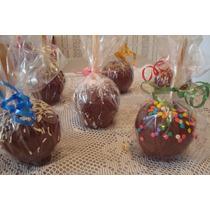 Maçã Do Amor Coberta Com Chocolate - Kit Com 10 - R$ 22,00