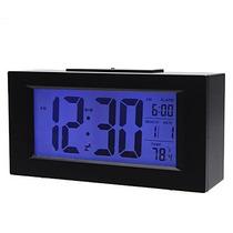 Relógio De Mesa Digital Com Dispertador Iluminado Preto 820
