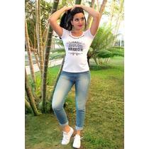 Blusa Feminina De Tecido T-shirts Estampa Agradecer Promoção