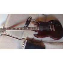 Guitarra Golden Sg Vinho Captadores Emg Ativo 81 E 85 Troco