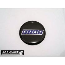 Emblema Resinado Da Fiat Preto De 58mm
