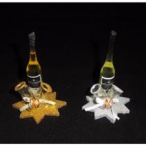 Originales Botella Con Copas Souvenirs,casamientos