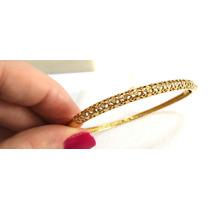 Bracelete 15 Diamantes Joia Em Ouro Amarelo 18k/750 Garantia