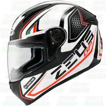 Nuevo Casco Integral Zeus Gj 802 Black Red Italy - Fas Motos
