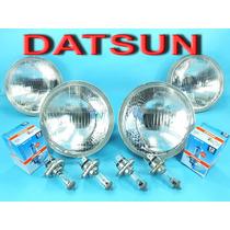 Datsun 620 Partes Faros Frontales Cn Entrada P/ Bulbos H4