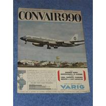 Propaganda Antiga Varig Convair 990