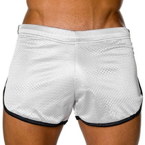 Cueca Boxer Andrew Christian Mesh Shorts Preto Sunga