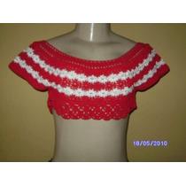 Bc009 - Mini Blusa De Croche Vermelha Manequim P