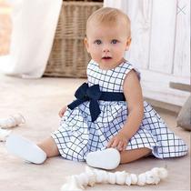 Vestido Bebê Xadrez Fashin. Pronta Entrega