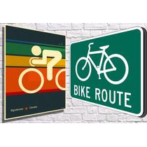 Placas Decorativas Tema Bicicletas Bikes E Muito Mais!