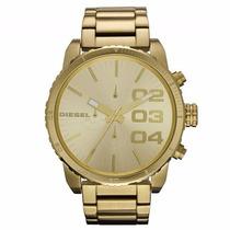 Relógio Dourado Dz4268 Ouro Femini Mascu Exchange