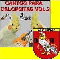 Cd Completo De Cantos Para Calopsitas Vol. 2 + Brindes!!!