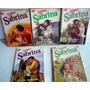 Pacote/lote 5 Romances Super Sabrina - Romances Com Coração