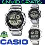 Reloj Casio® Deportivo Ae-1000wd R_agua 100m Pila 10 Gtia 3a