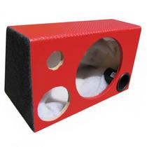 Caixa Som Trio Dutada Para Subwoofer 12 - 40 Litros Vermelha