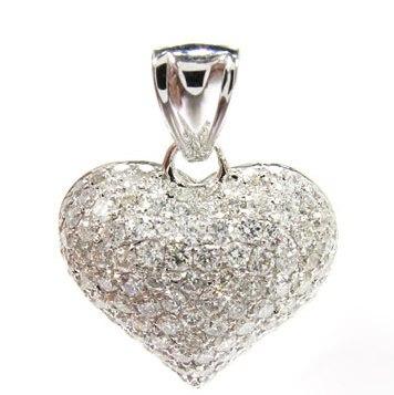 e963328f9ab36 Pingente Coração Ouro Branco 18k!mais Brilhantes!! - R  2.045,22 em ...