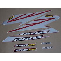 Kit Adesivos Honda Nxr150 Esd Bros 2008 Vermelha - Decalx