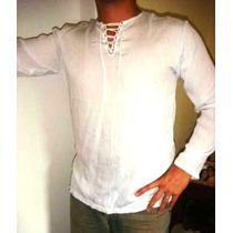 Batas Masculinas Brancas Mangas Longas- Anos 70