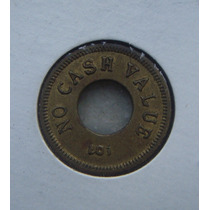 Ficha, Token 19mm, Bronze, For Amusement Only - Usa - C/furo