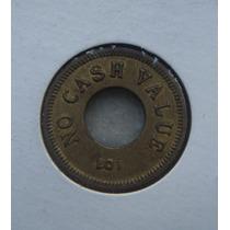 Ficha, Token 19mm, Bronze, For Amusement Only - Usa - C/furo